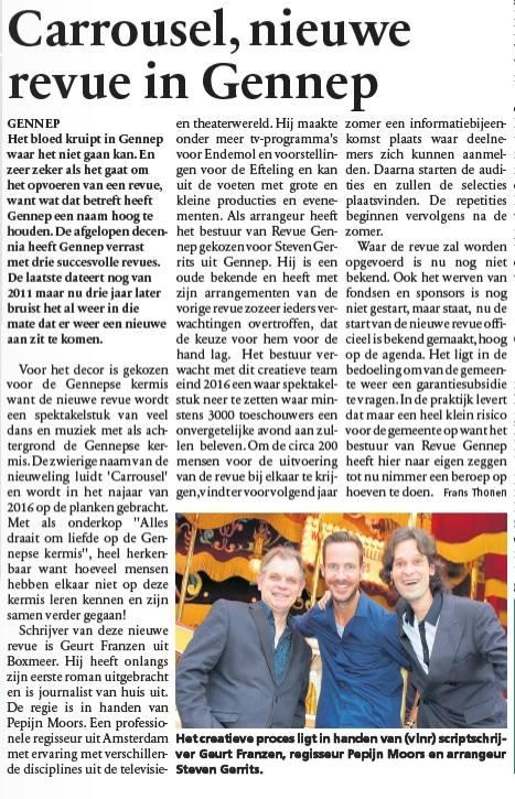 2014-10-15 Carrousel, nieuwe revue in Gennep