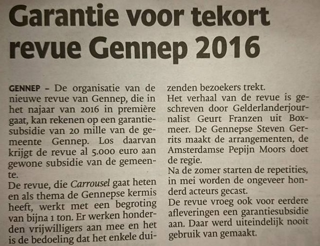 2015-04-01 Garantie voor tekort revue Gennep 2016